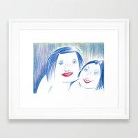 lipstick Framed Art Prints featuring Lipstick by Linda Roy Art
