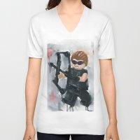avenger V-neck T-shirts featuring Avenger Lego by Toys 'R' Art
