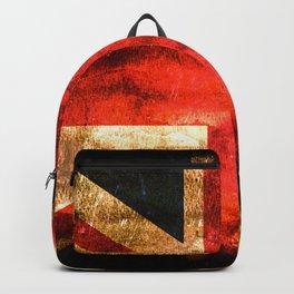British UK Flag Grunge Vintage Backpack