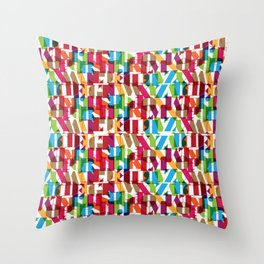 Letterform Fitting Throw Pillow