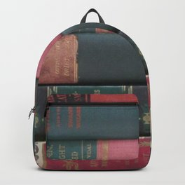 Stack Of Books- Red and Green Backpack