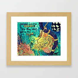 Blessed are the Cracked Framed Art Print