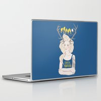 foo fighters Laptop & iPad Skins featuring Crystal Fighters by Anna Diricheva