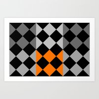 orange pattern Art Prints featuring Pattern orange by LoRo  Art & Pictures