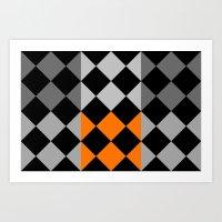 orange pattern Art Prints featuring Pattern orange by LoRo  Art & Pictures