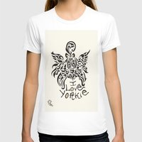 yorkie T-shirts featuring LOVE YORKIE by Elisa Daniele