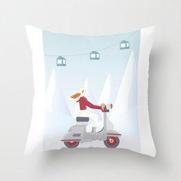 Ski Trip Throw Pillow