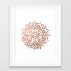 Rose Gold Mandala Framed Art Print