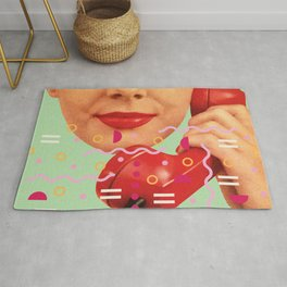 Pop art girl Rug