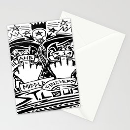 Middle Fingers Stationery Cards