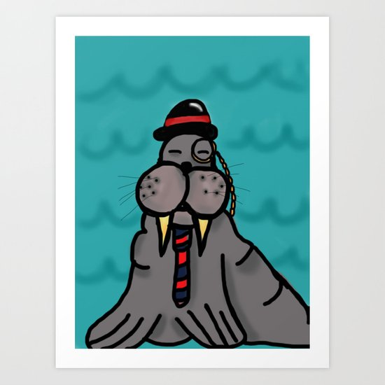 Sir Walrus Art Print