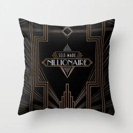 Self-Made Nillionaire Throw Pillow