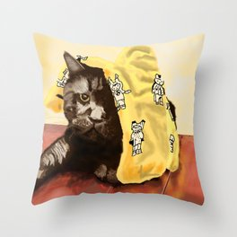 We Are Not Amused Throw Pillow