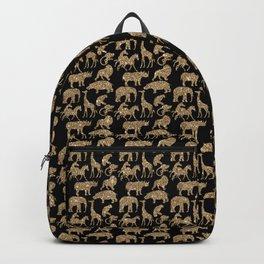 Wild Park Animal Safari Digital Glitter Look Backpack