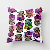 kindle Throw Pillows featuring 128@AllSkull™ by ALLSKULL.NET