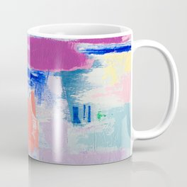 MAVEN 3 // ABSTRACT MIXED MEDIA ON CANVAS Coffee Mug