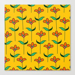 Genevieve - Yellow Canvas Print