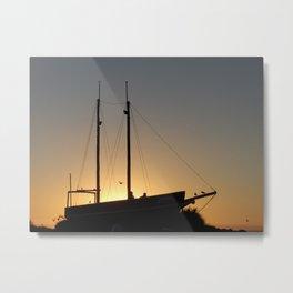 Boat at Sunset Beach, Hokitika, NZ (New Zealand Collection) Metal Print