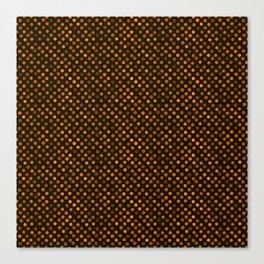 Retro Colored Dots Fabric Pumpkin Orange Canvas Print