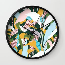 Fragmented Jungles Wall Clock