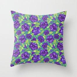 Petunia Night Sky (1) Throw Pillow