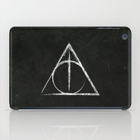 harry potter iPad Cases featuring Deathly Hallows (Harry Potter) by Daizy Jain