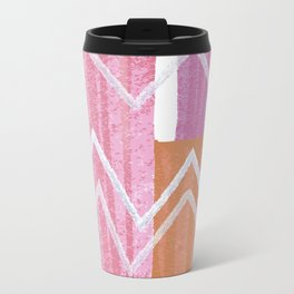 Painted Zig-Zag Travel Mug