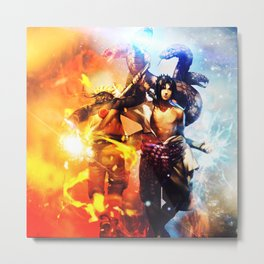 naruto and sasuke Metal Print