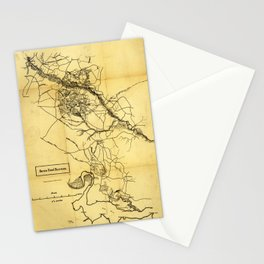 Map of the Civil War Seven Days' Battles (June 25 - July 1, 1862) Stationery Cards