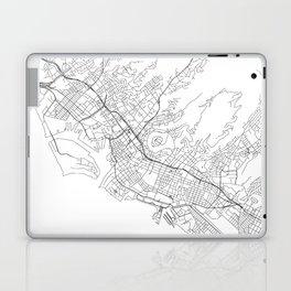 Honolulu White Map Laptop & iPad Skin