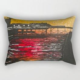 Aberystwyth Pier Rectangular Pillow