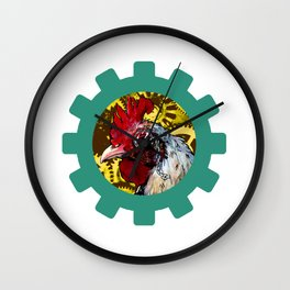Steampunk Rooster Wall Clock