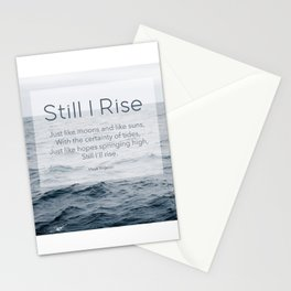 Ocean Waves. Still I Rise by Maya Angelou Stationery Cards
