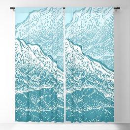 Distant Snow- 遠雪 : linocut Blackout Curtain