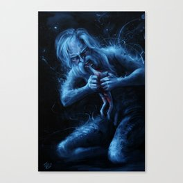 Saturn Devouring His Young (After Goya) Canvas Print