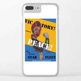 Victory Through Peace Clear iPhone Case