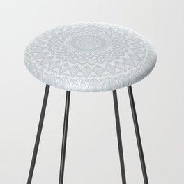 Minimal Minimalistic Light Cool Gray Mandala Counter Stool