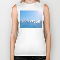 hollywood Biker Tanks featuring Sea Hollywood by Lord Solomon's Gallery