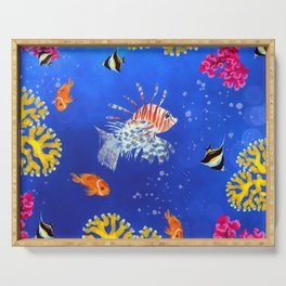 Coral reef Serving Tray