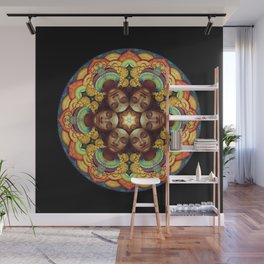 Metta Mandala Black Wall Mural