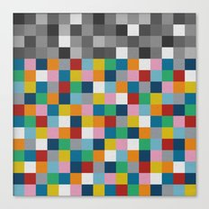 Colour Block with Topper #2 Canvas Print