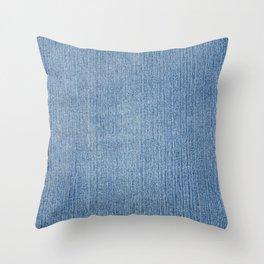 Faded Blue Denim Throw Pillow