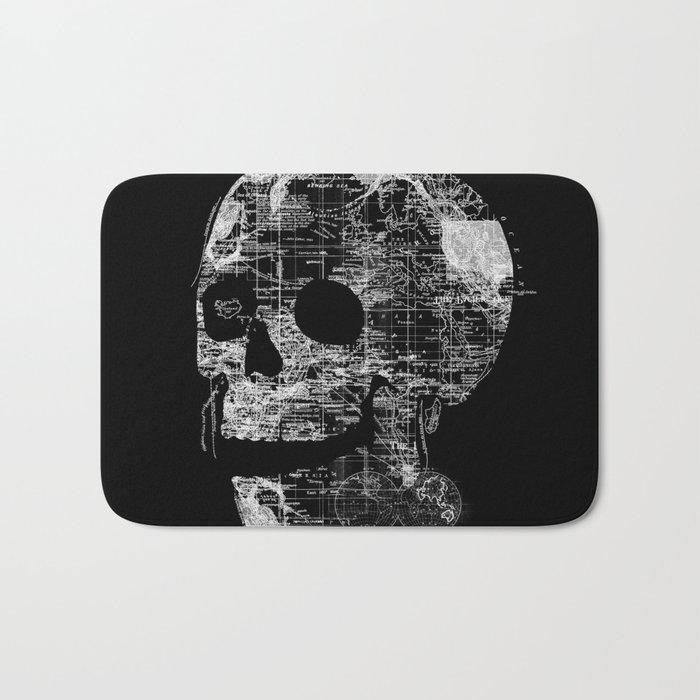 Skull Wanderlust Bath Mat