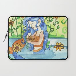 Sunflower Mermaid Laptop Sleeve