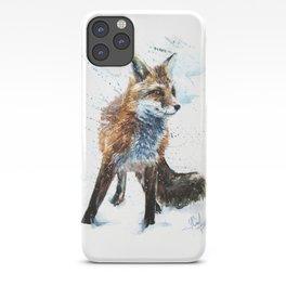 Fox watercolor iPhone Case