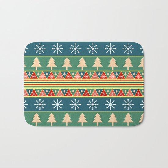 Christmas pattern II Bath Mat