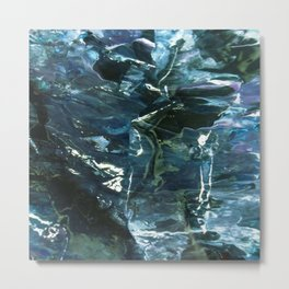 WATER WITH ICECUBES Metal Print