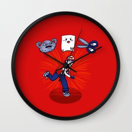 RPS Battle Arena Wall Clock