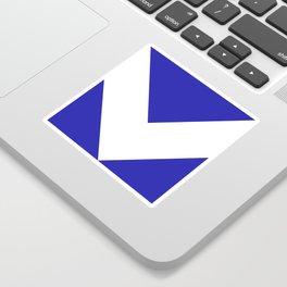 Chevron (White & Navy Blue) Sticker