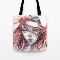 fight Tote Bags featuring Fight by Koanne Ko